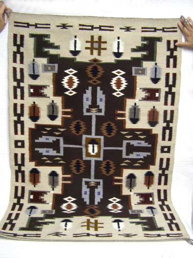 Native American Navajo Rug - Storm Pattern