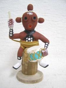 Navajo Made Mudhead Stump Sitter Kachina Doll
