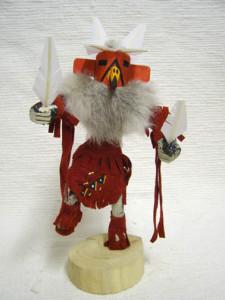 Navajo Made Red Tail Hawk Kachina Doll