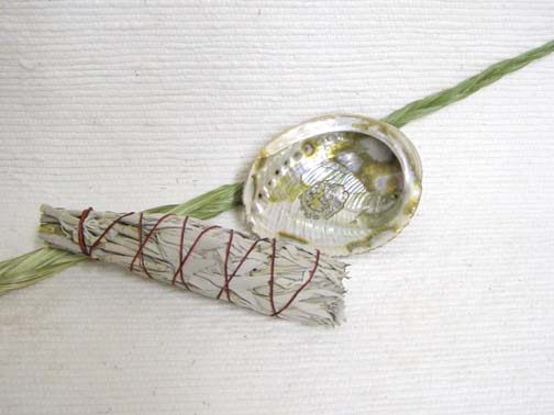 Sage, Sweetgrass and Abalone Shell