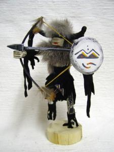 Navajo Made Standing Buffalo Warrior Kachina Doll