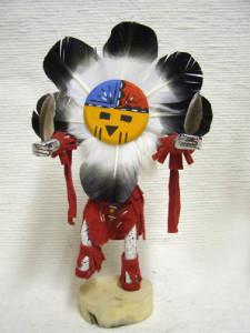 Navajo Made Sunface Kachina Doll