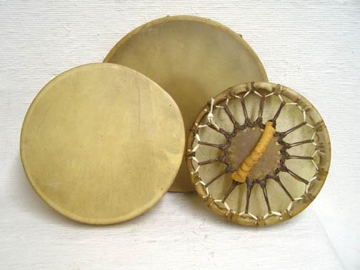 Cherokee Made Single Sided Elk Hand Drums