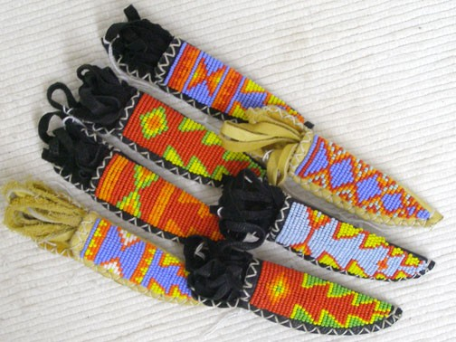 Beaded Knife Sheath Necklaces