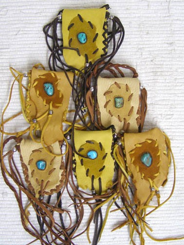 Cherokee Medicine Bags with Turquoise