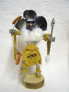 Navajo Made Warrior Mouse Kachina Doll