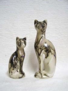 Ceramic Horsehair Cat Figurines