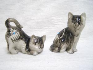 Ceramic Horsehair Fat Cat