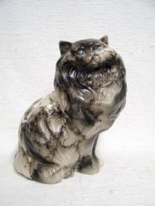 Ceramic Horsehair Persian Cat