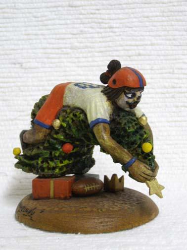 Hopi Carved Clown Katsina - Christmas Football
