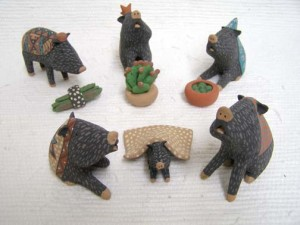 Mata Ortiz Handbuilt and Handpainted Javelina Nativity
