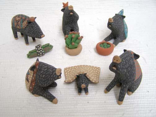 Mata Ortiz Handbuilt and Handpainted Javelina Nativity