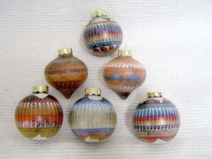 Navajo Made Horsehair Christmas Ball Ornaments