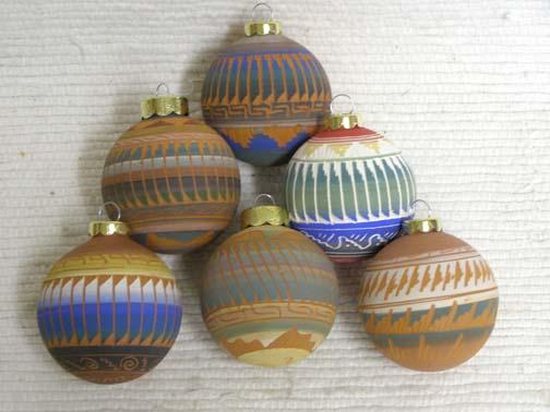 Navajo Made Christmas Ball Ornaments