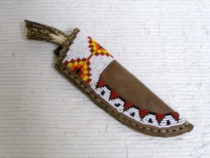 Blackfeet Designed Beaded Knife Sheath-C
