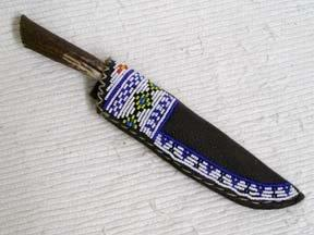 Blackfeet Designed Beaded Knife Sheath-D