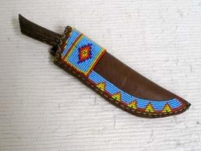 Blackfeet Designed Beaded Knife Sheath-F