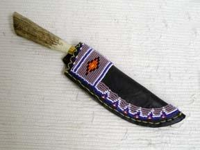 Blackfeet Designed Beaded Knife Sheath-G