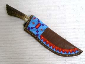 Blackfeet Designed Beaded Knife Sheaths--L
