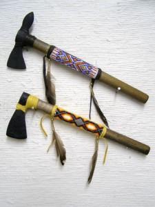 Tohono O'odham Beaded Tomahawk