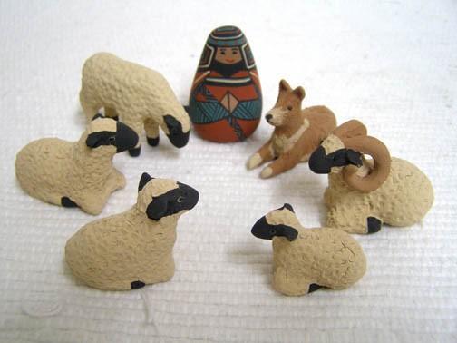 Mata Ortiz Handbuilt and Handpainted 12-Piece Nativity